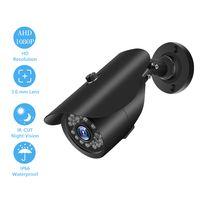 1080P HD 2.0MP Bullet Kamera mit Metallgehaeuse Eingebaute 36 teilige IR CUT LED Leuchten Intelligentes Bewegungssystem IP66 Wasserdichtes Pal System Schwarz