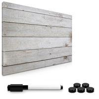 Magnetisches Memoboard - Wooden Plank Design