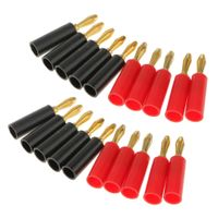 20pcs 4mm Audio Kabel Bananenstecker Adapter Lautsprecher Vergoldet