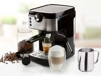 Espressomaschine mit Milchaufschäumer & Milchkännchen, Siebträger Kaffeemaschine
