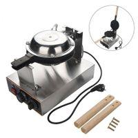 220V 1.4KW Elektrisch Ei Kuchen Egg Waffle Bubble Puff Maker Edelstahl Eiwaffelmaschine