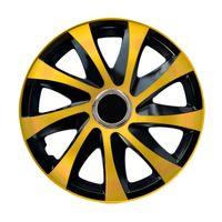 """Radkappen Radzierblenden Radblenden 4er Set Auto KFZ 15"""" gold"""