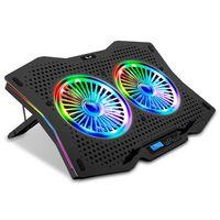 "SK Notebook Laptop Rainbow Kühler Ständer Cooler Lüfter 10"" - 18"" R710"
