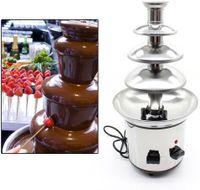 4 Etagen Schokobrunnen 170 Watt Schokoladen-Brunnen aus rostfreiem Edelstahl Schokofondue Schokoladenfontaine