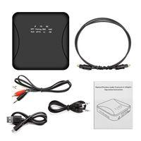 Xu21 Bluetooth 5.0 Sender Empfänger CSR8675 APTX LL HD BT Audio Musik Wireless USB Adapter 3.5mm 3.5 AUX Buchse / SPDIF / RCA für TV PC【Schwarz】