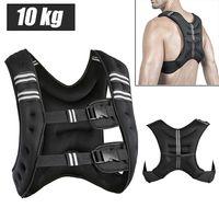 10kg Gewichtweste Trainingsweste  Laufweste Fitnessweste verstellbar fitness