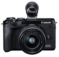 Canon EOS M6 Mark II + EF-M15-45mm + EVF-DC2, 32,5 MP, 6960 x 4640 Pixel, CMOS, 4K Ultra HD, 361 g, Schwarz