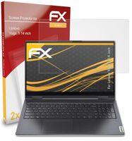 atFoliX FX-Antireflex 2x Schutzfolie kompatibel mit Lenovo Yoga 7i (14 inch) Panzerfolie