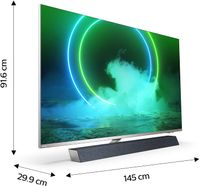 Philips Ambilight TV 65PUS9435/12 65-Zoll LED TV mit Sound von Bowers & Wilkins (P5 Perfect Picture Engine, 4K UHD, Dolby Vision∙Atmos, Android TV, HDR 10+, Sprachassistent) [2020/2021 Modell]