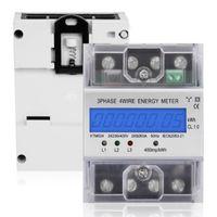 Drehstromzähler geeicht für DIN Hutschiene + 3x5(80)A 230/400V 3 Phasen 4 Draht