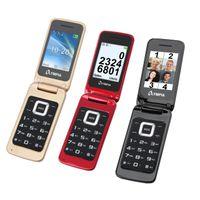 OLYMPIA Luna Senioren Mobiltelefon, Farbe:Rot