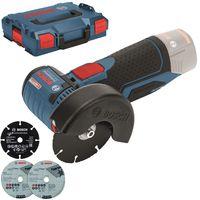 Bosch GWS 10,8-76 V-EC Professional-Akku-Winkelschleifer Solo mit L-Boxx, 76 mm Schleifscheibe, Auslaufbremse, ohne Akku, ohne Ladegerät
