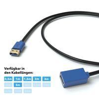 JAMEGA - 5m USB 3.0 Verlängerung USB Verlängerungskabel | USB-A Buchse auf A Stecker | Doppelt Geschirmt | High Speed Datenübertragung bis zu 5 Gbit/s