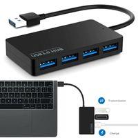 4 Port USB 3.0 Verteiler SuperSpeed Daten Naben Adapter für Notizbuch Laptop PC