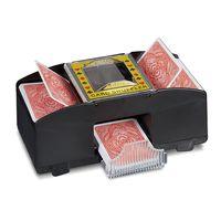 elektrischer automatischer Shuffler f/ür 2 Poker Kartenspiele in Standardgr/ö/ße geeignet f/ür Freunde der Familie die gemeinsam Kartenspiele spielen Kartenmischmaschine Automatischer Kartenmischer