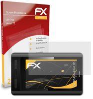 atFoliX FX-Antireflex 2x Schutzfolie kompatibel mit XP-Pen Artist 12 Panzerfolie