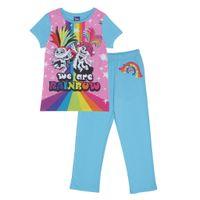 Trolls - We Are Rainbow Schlafanzug für Mädchen PG1190 (98) (Bunt)