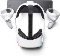 VR Wandhalterung, VR Ständer - Premium Metall - Für Oculus Rift Oculus Rift S Quest 2, HTC Vive, Vive Pro, Playstation VR, Valve Index, Vive Cosmos und Headsets - Schwarz