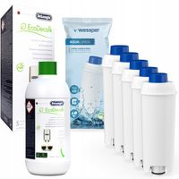 DeLonghi EcoDecalk Entkalker+ 5 Wasserfilter von Wesper kompatible mit Delonghi ECAM21210B