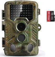 Wildkamera 20MP 1080P Abzugsentfernung Wildkamera mit Bewegungsmelder Nachtsicht 0,1s Schnelle Trigger Geschwindigkeit