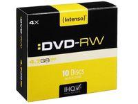 Intenso DVD-RW 4,7 GB 4x Speed - 10stk Slim Case