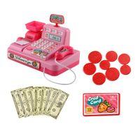 Rollenspiele Kinder Kindergeschäft Rollenspiel Registrierkasse Shopping Toys Rosa Kasse 17,5 x 12 x 13 cm Stell dir vor, du spielst Spielzeug