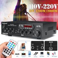 GLIME 12V / 220V 1200W HiFi bluetooth Audio Auto Verstärker Stereo USB AUX