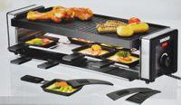 Unold 48735 Raclette Grill Finesse 8 Pfannen Spachtel 1100 Watt Anithaft Xxl