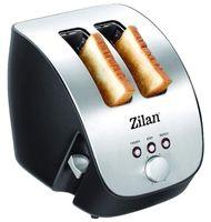 Zilan Schräg-Toaster   2 Scheiben Toaster   Toaster   Schrägtoaster   Toastautomat   Röstautomat   1000 Watt   Edelstahl-Gehäuse   Stufenlos einstellbar   INOX-Design  