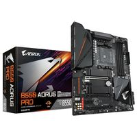 Aorus Ultra Durable B550 AORUS PRO Desktop-Mainboard - AMD Chipsatz - Sockel AM4 - 128 GB DDR4 SDRAM Maximaler Arbeitsspeicher (RAM) - DIMM, UDIMM - 4 x Speichersteckplätze - 6 x USB 3.1 Port - HDMI-Kabel - 1 x RJ-45 - 6 x SATA-Schnittstellen
