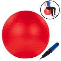 Gymnastikball 75cm inkl. Handpumpe in rot Fitnessball Sportball Yogaball Sitzball Bürostuhl Balanceball Pilates Yoga
