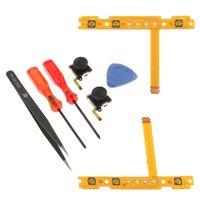 Für Nintendo Switch Controller 2Pack L / R Analoger Joystick 3D Wippe + SL SR Taste Flexkabel + 4 In 1 Kreuz Tri Wing Schraubendreher Pinzette