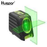Huepar BOX-1G Lasermessgeräte Selbst nivellierung Vertikale und Horizontale Laser Grün Strahl Kreuz Linie Laser Ebene 150 Grad 510nm Nivel Laser Für im freien Verwenden,