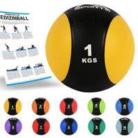 Medizinball 1 – 10 kg – Professionelle Studio-Qualität, Farbe:1 kg - Gelb
