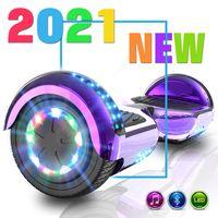 Markboard 6,5 Hoverboard mit 350W*2 Motorbeleuchtung| RGB LED-Leuchten | Bluetooth-Lautsprecher, Self Balance Scooter Elektroroller Elektro Skateboard