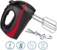 Zilan Turbo Handmixer | Handrührer | Stabmixer | Hand Mixer | 300 Watt | Schwarz/Rot