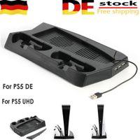 Melario Vertical Lüfter & Kühler Standfuß für PS5 Controller Ladegerät Ständer