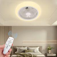 MECO LED Deckenventilator Mit Beleuchtung 40W Deckenventilator Deckenleuchte Mit Fernbedienung 3-Gang Einstellbare Windgeschwindigkeit