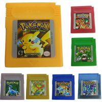 Spielkarten Cartridge fš¹r Nintendo Pokemon GBC Game Boy Farbversion Konsole Golden
