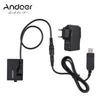 Andoer ACK-E10 5-V-USB-Dummy-Batterie-Gleichstromkoppler (Ersatz fuer LP-E10) mit Netzteil Kompatibel mit Canon EOS Rebel T3 / T5 / T6 / T7 / T100 / Kuss X50 / Kuss X70 / 1100D / 1200D / 1300D / 2000D / 4000D