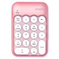Mofii X910 2.4G Drahtlose Tastatur Numerische Tastatur Tragbar 18 Tasten Tastatur des Finanzbuchhaltungsbueros Weiss + Pink