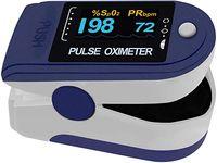 Pulsoximeter Finger Pulsoximeter kann den Puls und die Sauerstoffsättigung am Finger messen (blau)