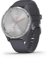 Garmin Vivomove 3S Smartwatch Sportuhr Fitness GPS Multisport Herzfrequenzmesser, Farbe:Granitblau/Silber