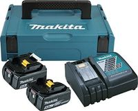 Makita Power Source Kit 18,0V-5,0Ah 197624-2 2x BL1850B 1x DC18RC 1x MAKPAC