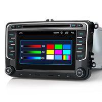 Für VW Golf 5 6 Tiguan Touran Passat Android Autoradio 7 Zoll schwarz