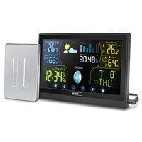 Funk Wetterstation mit Touchscreen Farbdisplay, inkl. Außensensor, Wettervorhersage, Barometer, Mondphase, Funkuhr, Innen- und Außentemperatur, Barometer, Wettervorhersage