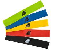 Fitnessbänder Widerstandsbänder Trainingsbänder + Tasche Gymnastikbänder 5er Set 6242
