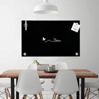 Melko Memoboard 100x60CM Whiteboard Schwarz Magnetwand Schreibtafel Pinnwand ??