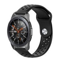 Samsung Gear S3 / Galaxy Watch 46 mm Armband  22 mm - schwarz