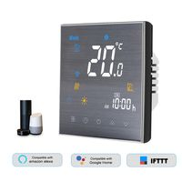 BTH-3000L-GALW WiFi-Smart-Thermostat fuer die Warmwasserbereitung Digitaler Temperaturregler Grosses LCD-Display Touch-Taste Sprachsteuerung Kompatibel mit Amazon Echo / Google-Startseite / Tmall Genie / IFTTT 5A AC 95-240V